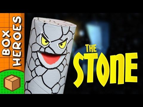 The Stone - DIY Paper Roll Crafts | Box Heroes on Box Yourself - YouTube