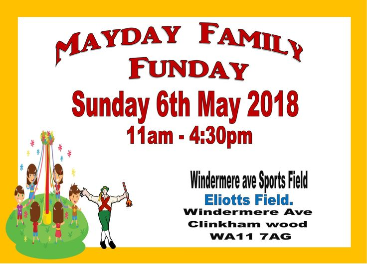 Mayday funday poster for 2018