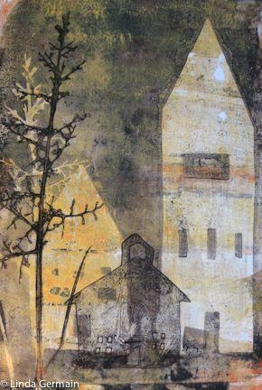 Tyvek Stencils for Gelatin Printmaking - Linda Germain Printmaking