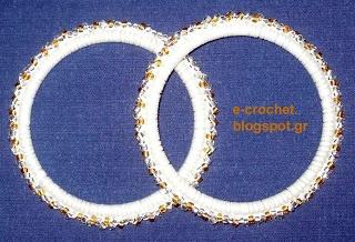 Beaded loops, earrings, bracelet size