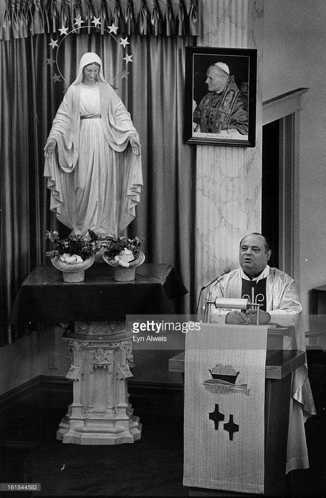 MAY 13 1981, MAY 14 1981; Saint Joseph's Polish Church & School; The Rev. Jan Mucha asks for prayers for the Pope; The pastor of St. Joseph's Polish Roman Catholic Church in Denver made the request during a special mass for the pontiff Wednesday evening.;