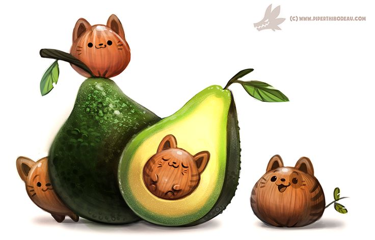 Daily Paint #1205. Avacato by Cryptid-Creations. ► get more @rohitanshu ◄