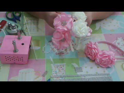 Flor de cetim ... bem facíl - YouTube