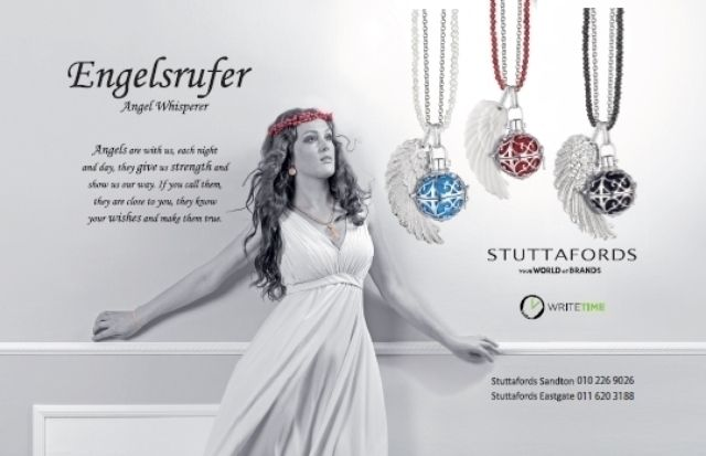 Do you believe in guardian angels? The Engelsrufer (Angel Whisperer) necklace is for you! Write Time @Stuttafords_za.