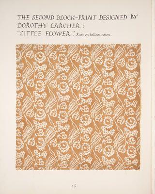Dorothy Larcher, Little flower