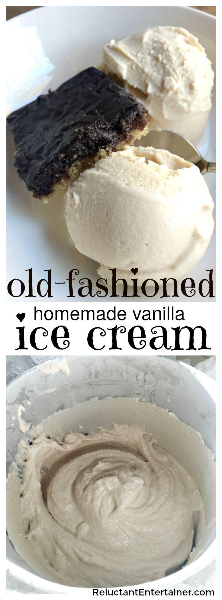 Old-Fashioned Homemade Vanilla Ice Cream | Recipe | Vanilla Ice Cream ...