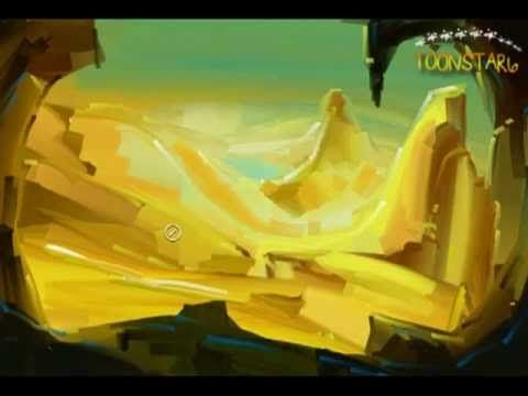 golden Vally speed painting land scape