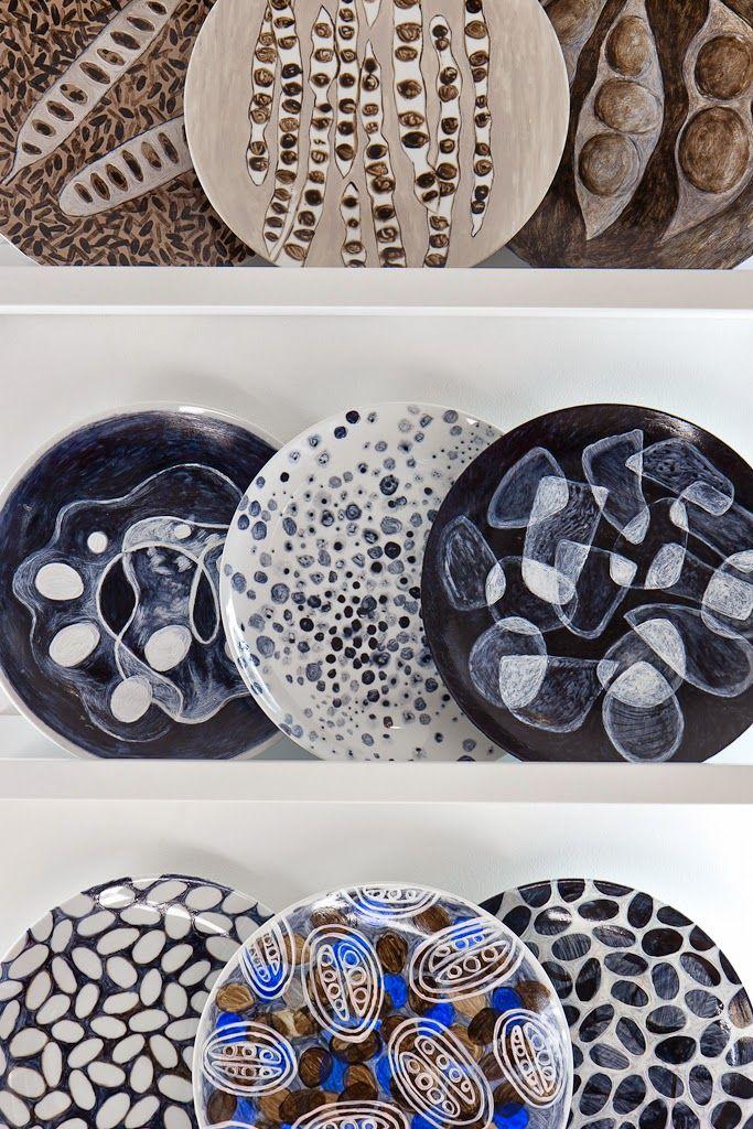 Biodiversity Conversation Plates : Sophie Munns {studio archive} blog