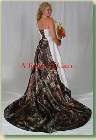 mossy oak wedding dresses