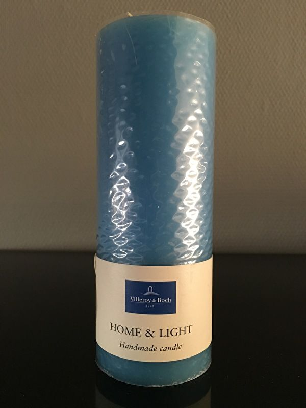 Villeroy & Boch Essent. Candles light blue pillar 7 x  19 cm