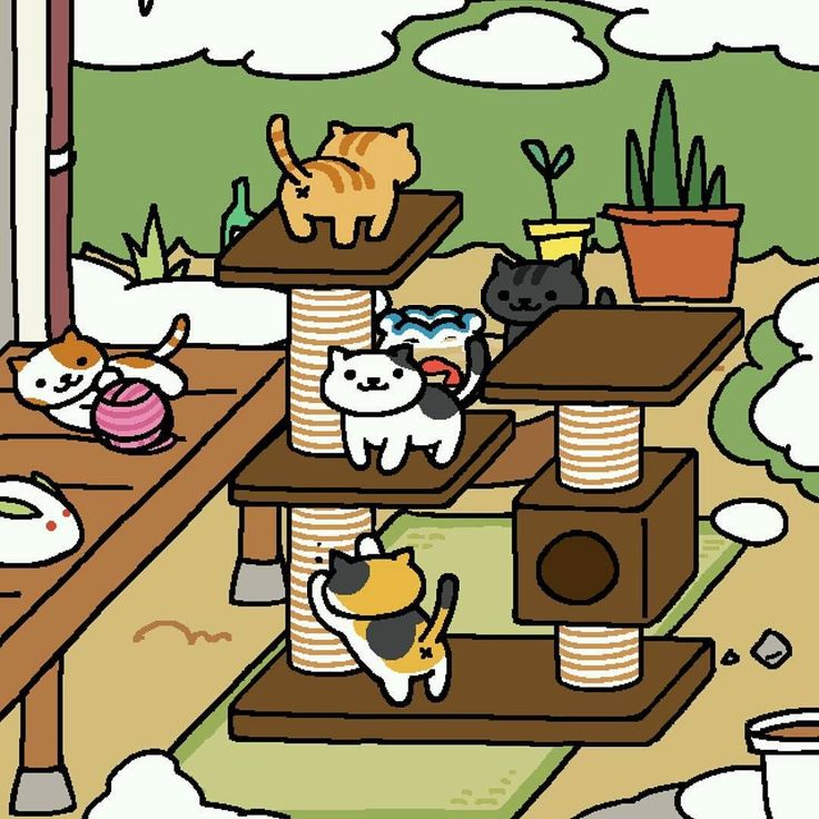 "Lindsey Paydon on Instagram ""Obsessed nekoatsume"" Neko"