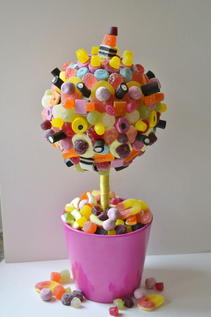 Have a go at making this simple homemade candy tree a great craft to do with the children and an amazing centrepiece for any party table
