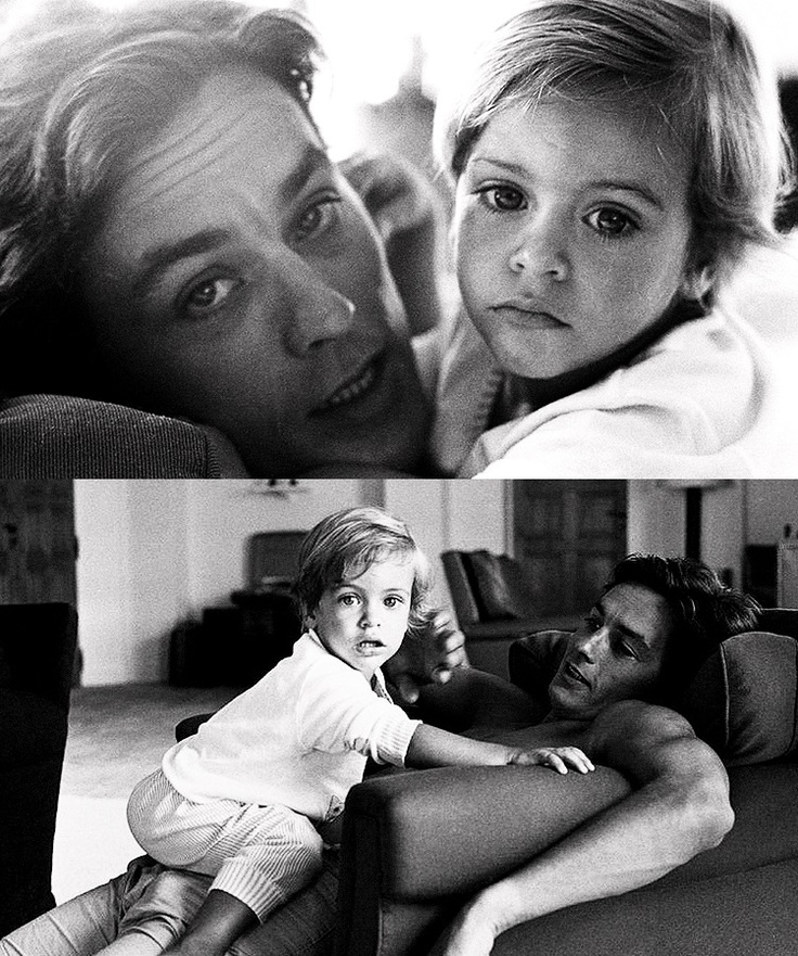 Alain Delon and son Anthony.