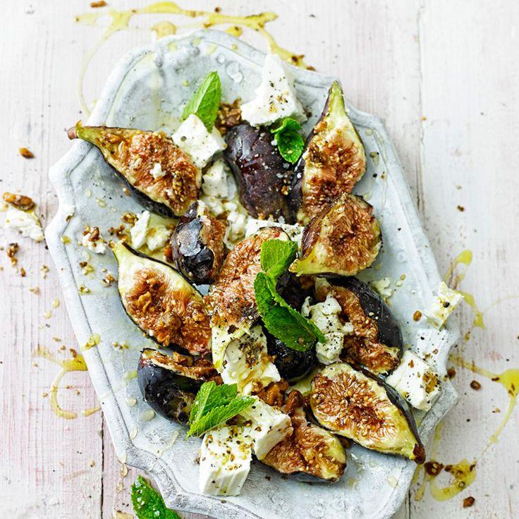 Vijgen-fetasalade met walnoten recept - Jamie magazine