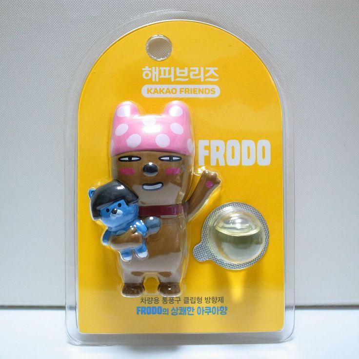 Kakao Talk Friends Cute Character Ver2 Car Vehicle Vent Clip Air Freshener Frodo #LGHouseholdHealthCareLtd