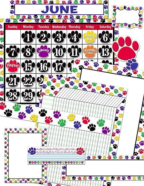 Colorful Paw Prints Set