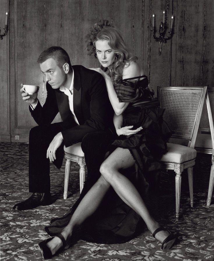 Moulin Rouge photo shoot- Ewan McGregor and Nicole Kidman