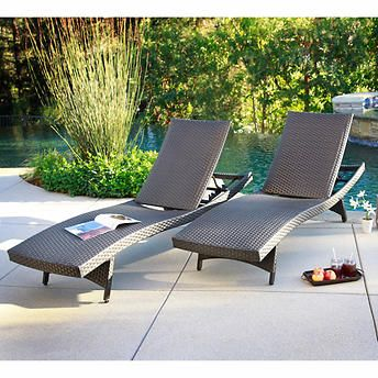 palm aire woven padded 2pack chaise lounge