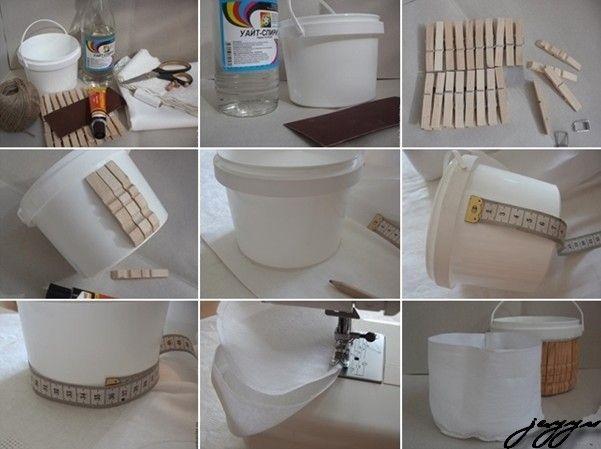NapadyNavody.sk | Ako vyrobiť nádherný košík z plastového vedierka a drevených štipcov