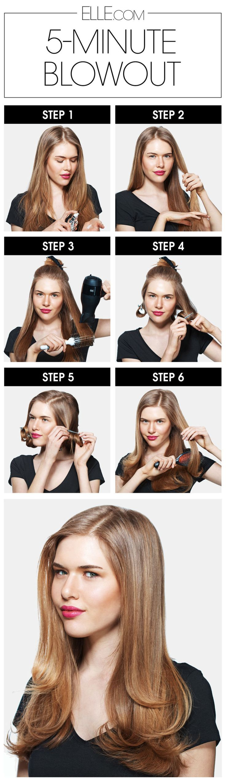 Blowout Hair in 5 Minutes - How to Master the Perfect Blowout - ELLE