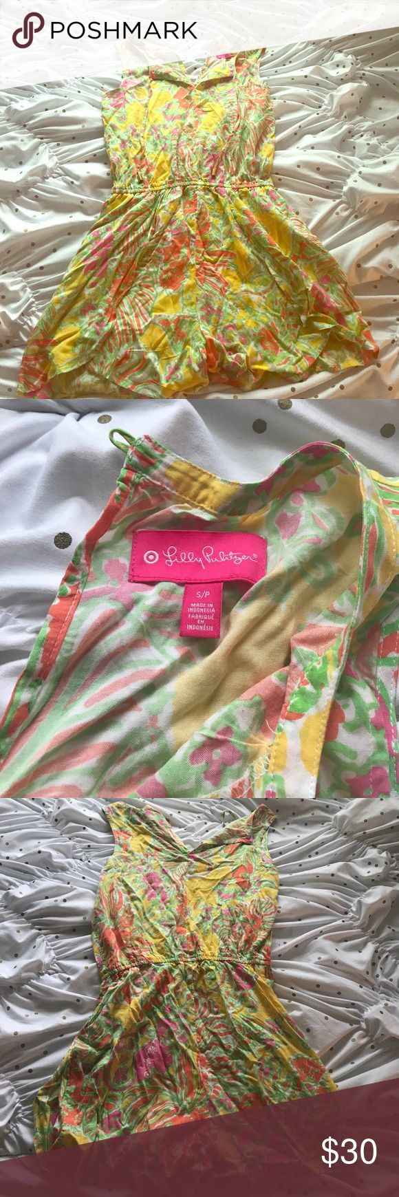 Lilly for Target romper Super comfy Lilly for Target romper! Like new, only worn once or twice. Size small but runs on the big side. Lilly Pulitzer Shorts