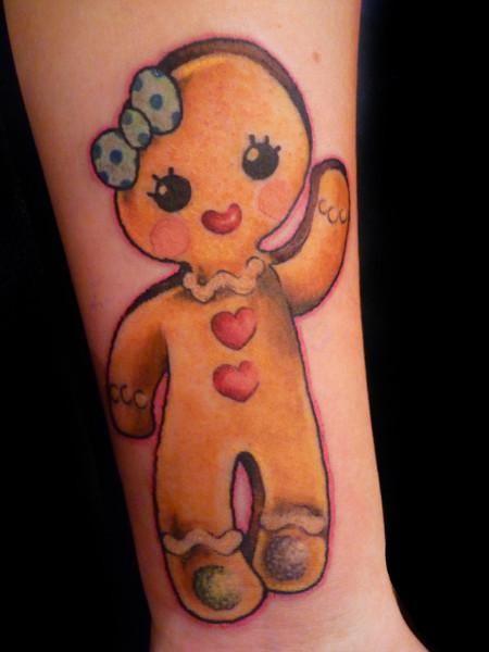 gingerbread tattoo