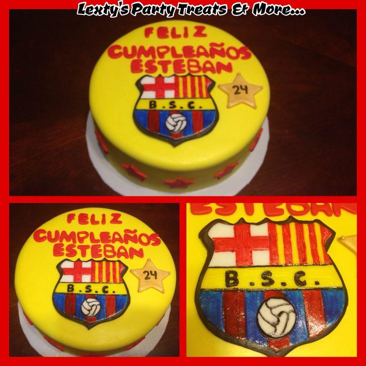 Soccer Team Cake Barcelona Ecuador
