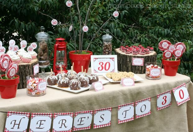 Hostess with the Mostess – Rustic 30th Birthday
