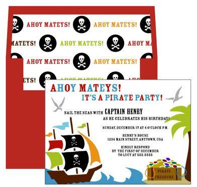 Ahoy Mateys Invitations
