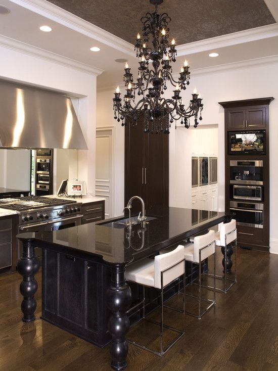 1706 best beautiful kitchens images on pinterest for Beautiful black kitchens