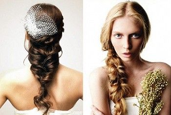 Свадебные прически с косами на фото
