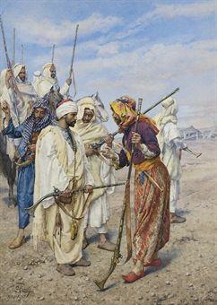 Bedouins preparing a raiding party