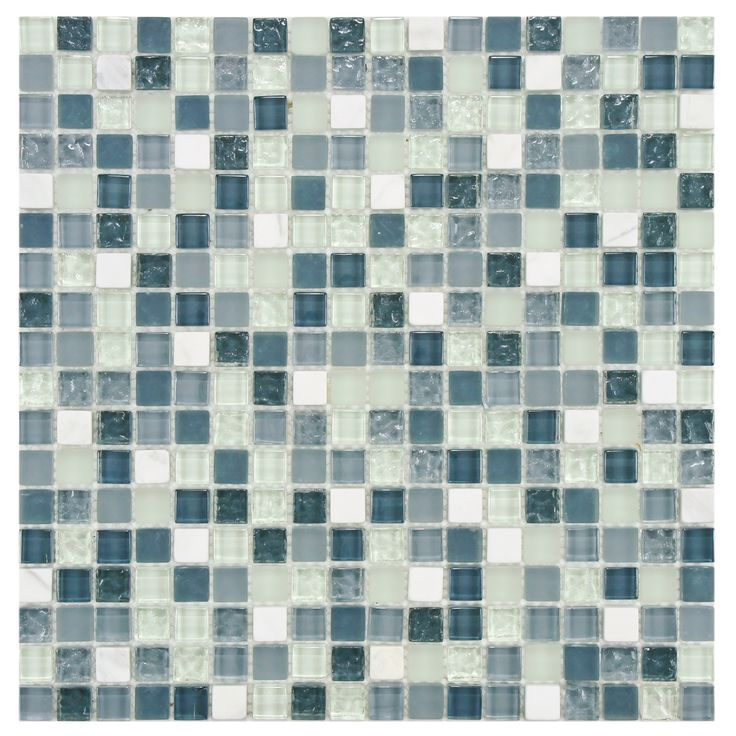 Somertile 12x12 In Reflections Mini 5 8 Alaskan View Gl Stone Mosaic Tile Pack Of 10 12 X12