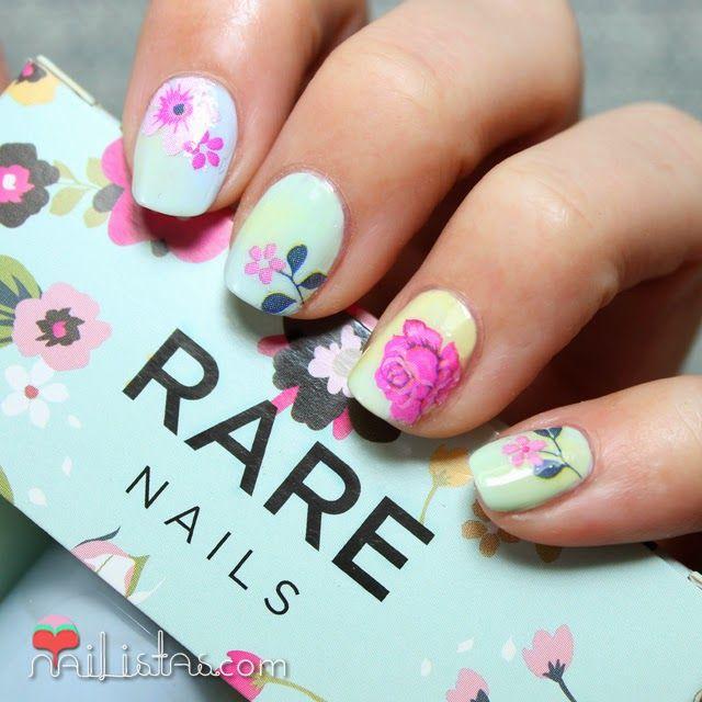 Uñas decoradas con flores, nail art de primavera
