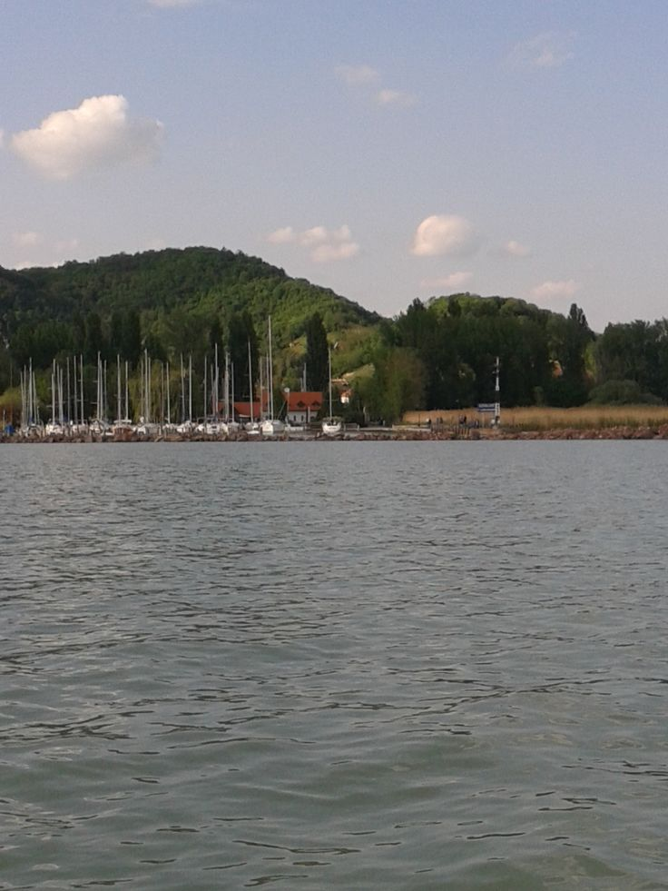Port from the water. Lake Balaton in Hungary.