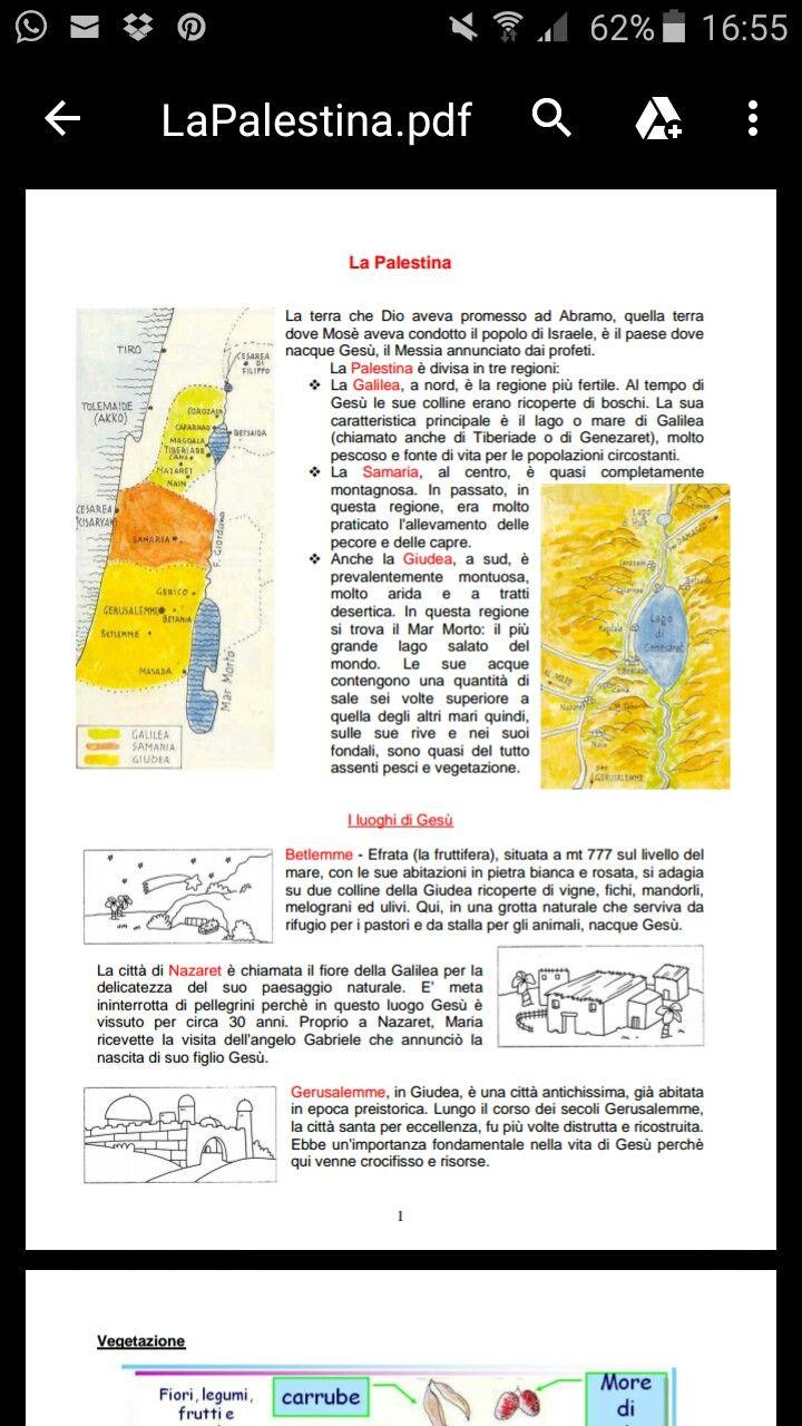 La Palestina al tempo di Gesù (vedi pdf in dropbox)