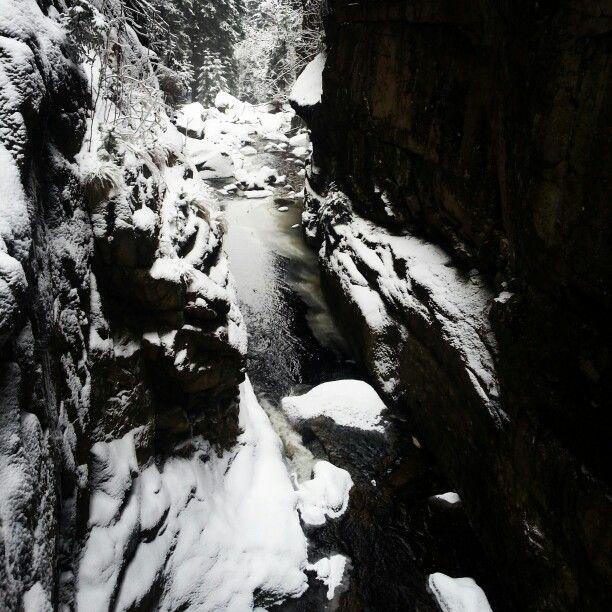 Wodospad, góry,  Poland,  zima