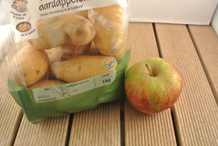 appel in aardappelzak