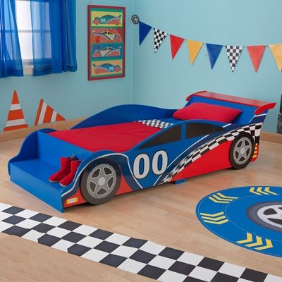 25+ beste ideeën over race car toddler bed op pinterest, Deco ideeën