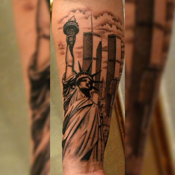 "82 Likes, 10 Comments - Inkstop Tattoo (@inkstoptattoonyc) on Instagram: ""We're in a New York State of mind. Check out this great tattoo of the Statue of Liberty and the…"""