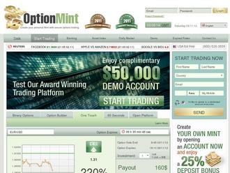 Trade. OptionMint is a professional and reliable Binary Options trading platform. Learn how to turn investments into substantial profit.