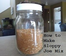 Recipe for making a great homemade sloppy joe seasoning mix. Make a large quantity and store for later.