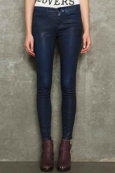 BDG Blue Coated Ankle Cigarette Jeans