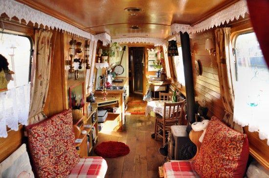 Inside the narrowboat