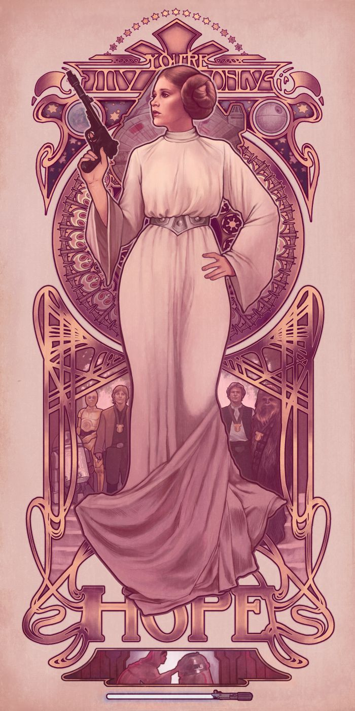 Art Nouveau Leia Art Print ~ $15 ~ Star Wars Home Decor!