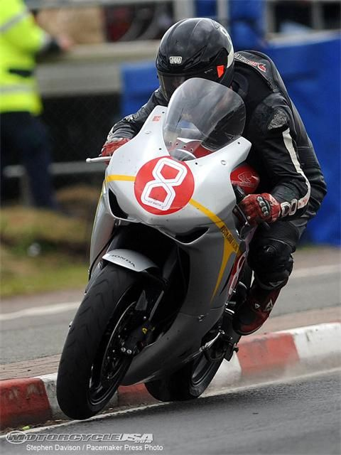 Guy Martin pushing it as far as the road allows.