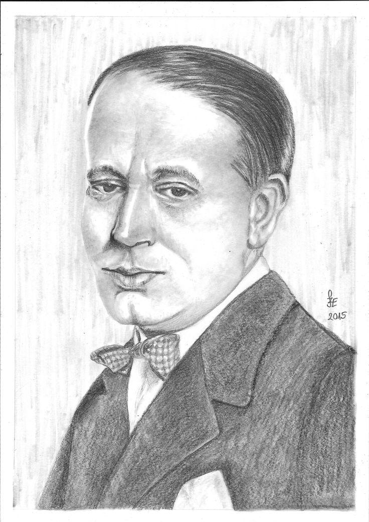 Pencil drawing portrait Gózon Gyula by Erika Székesvári https://www.facebook.com/ercziart/