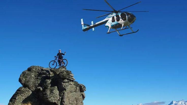 Heli-Biking with Heliview Flights, Central Otago NZ