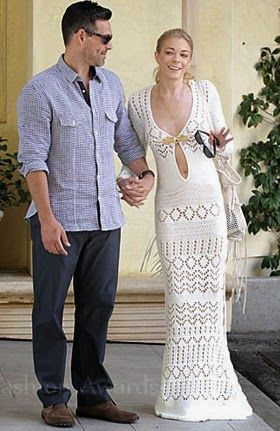 Leann Rimes Crochet Wedding Brunch Dress Affordable Dresses Braided Style In 2018 Pinterest And Fashion