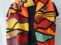 Strickanleitung Schal nach Hundertwasser, DIY